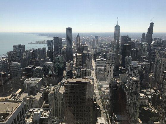 ジョン・ハンコック・センターの展望台からの風景