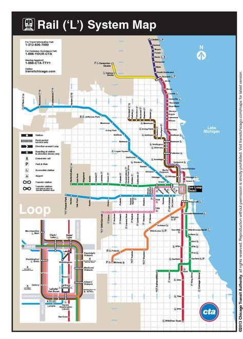 シカゴの地下鉄&高架鉄道
